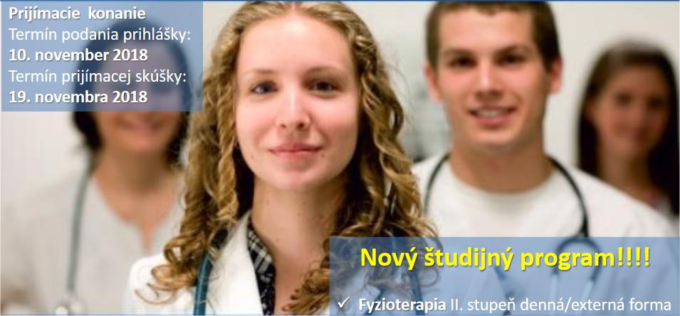 Štúdium na Fakulte zdravotníctva